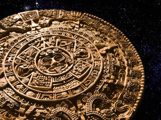 "ABC2news' article ""NASA says world won't end in 2012 despite Mayan calendar"" featured this image—of an Aztec sun calendar."